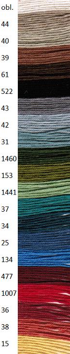 Mattvarp bomull12/6 färgad (egyptisk)
